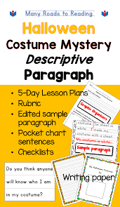 Halloween Birthday Poems Writing Halloween Costume Mystery Descriptive Paragraph Lesson