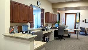 Office Reception Desk Medical Office Design Reception Area Records Storage Patient Rooms