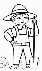 coloriage jardinier les beaux dessins de personnages à imprimer