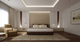 bed back wall design love the slimline lighting on the back wall enticing