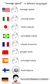 Language Meme - average speed in different language meme by myakki on deviantart