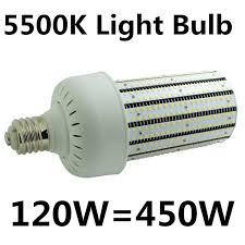 mogul base led light bulbs daylight white 5500k mogul base 120w e39 e40 corn led light bulb ul
