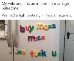 Meme Magnets - marriage fight in fridge magnets humoar com
