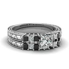 Black Diamond Wedding Ring Sets by Princess Cut Wedding Sets Engagement Rings Fascinating Diamonds