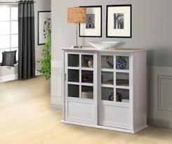 white glass storage cabinet espresso or white wood curio bookcase display storage cabinet with