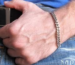 chain bracelet men images Wide silver chain bracelet for men men 39 s jewellery massive jpg