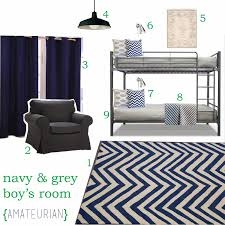 Navy Bedroom Boy U0027s Bedroom Bunk Beds Navy And Grey Boys Room Chevron