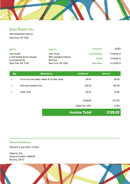 Florist Invoice Template by Printable Invoices Customizable Pdf Templates