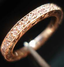 Pink Diamond Wedding Ring by Pink Diamond Eternity Anniversary Band Pink Diamond Wedding Band