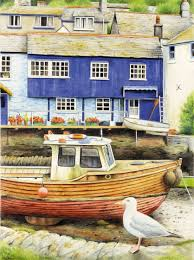 reeves water colour pencil by numbers seaside view amazon co uk