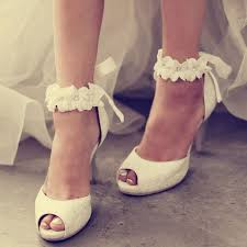 bridal wedding shoes ankle appliqued peep toe wedding shoes peeps so and shoes