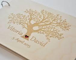 engravable wedding guest book custom wood wedding guest book album laser engraved