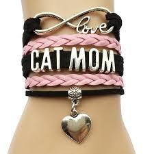 infinity charm leather bracelet images Infinity love cat mom bracelet heart charm leather jpg