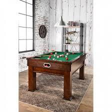 furniture of america cm gm336 cherry finish bumper pool table set