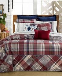 Twin Plaid Comforter Closeout Tommy Hilfiger Buckaroo Plaid Bedding Collection