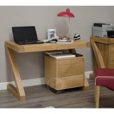 Solid Computer Desk Z Shape Solid Oak Small Computer Desk Oak Furniture Uk