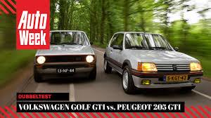 peugeot gti 1990 classics dubbeltest volkswagen golf gti vs peugeot 205 gti