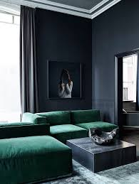 All About Interior Decoration Masuline Luxurious Living Room With Dark Walls And A Deep Green