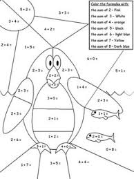 addition coloring pages kindergarten addition coloring