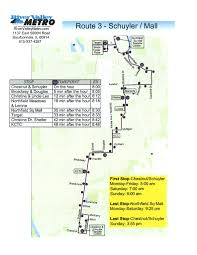 Kcc Map Route 03 U2013 Schuyler Mall River Valley Metro