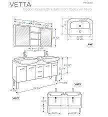 Standard Height Of Bathroom Mirror Brilliant Bathroom Vanity Height For Vessel Sinks Kahtany Inside