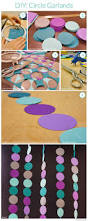 Easy Party Decorations To Make At Home by Best 25 Circle Garland Ideas On Pinterest Diy Party Decorations
