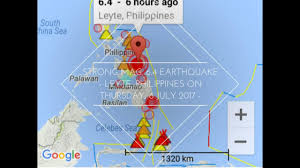 Earthquake Incident Map Strong Mag 6 4 Earthquake Leyte Philippines On Thursday 6