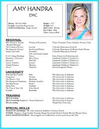 theatre resume template acting resume template theatre resume template best acting resume