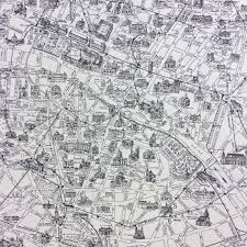 Orleans France Map by Mo07 Moda Map Of Paris Streets France French Quilt Cotton Quilting