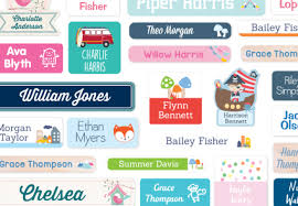 personalized pictures with names stuck on you personalized name labels in hundreds of combinations