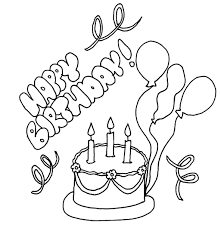 Printable Happy Birthday Coloring Pages Coloring Me Happy Coloring Pages