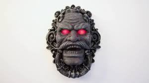 cool door knockers halloween stone face animated door knocker youtube