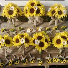 Sunflower Wedding Bouquet Shop Burlap Bridal Bouquet On Wanelo