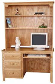 Mission Style Computer Desk With Hutch by Amish Pine Hollow Desk With Hutch