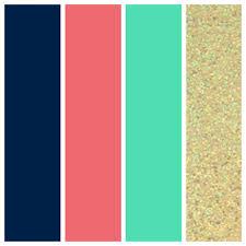 coral blue color home design ideas