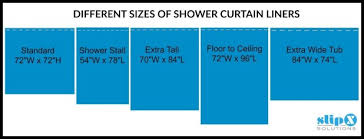 Shower Curtains Sizes Imposing Decoration Shower Curtain Dimensions Strikingly Design