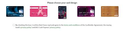 elite debit card apply for ace elite credit card check application status