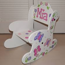 Personalized Toddler Rocking Chair Personalized U0026 Hand Painted Rocking Chair Artworks By Amy