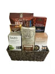 coffee and tea gift baskets coffee and tea gift basket chagne gift baskets