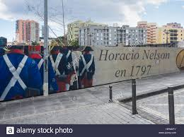 wall murals in santa cruz on tenerife depicting admiral nelson s stock photo wall murals in santa cruz on tenerife depicting admiral nelson s repelled attack on the city in 1797