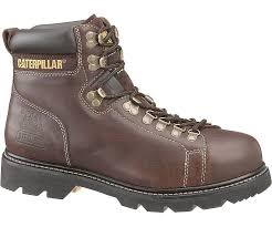 womens cat boots nz alaska techniflex steel toe work boot brown cat footwear
