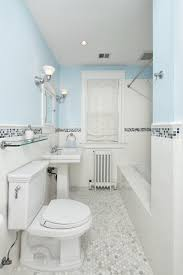 blue and white subway tile bathroom home affable