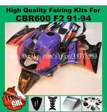 cheap honda cbr 600 9gifts fairings for honda cbr600 f2 91 92 93 94 cbr600rr red black
