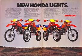 honda xr racing cafè vintage brochures honda xr series 1984 usa