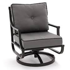 Black Patio Chair Audubon Aluminum Swivel Rocker Patio Club Chair By Lakeview