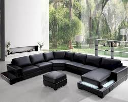 furniture contemporary leather sectional sofa and mid century
