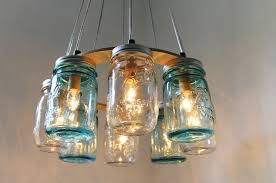 Chandelier Lighting Fixtures by Mason Jar Chandelier Beach House Mason Jar Lighting Fixture