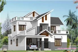 contemporary house elevations home design square feet modern