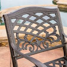 popular wrought iron outdoor furniture home design by fuller amazon com covington antique bronze outdoor patio furniture 5pcs