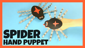 spider hand puppet paper craft for kids with template youtube